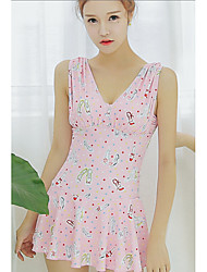Halter One-piece,Floral Polyester