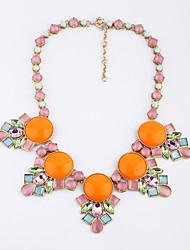 Femme Colliers/Sautoir Forme de Fleur Original Le style mignon Orange Vert clair Bijoux Pour Mariage 1pc