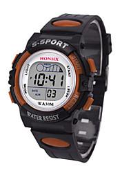 Муж. Спортивные часы электронные часы Китайский Цифровой силиконовый Группа Черный