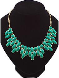 Жен. Ожерелья-цепочки В форме листа Сплав Мода Euramerican Бижутерия ДляСвадьба Для вечеринок Особые случаи День рождения Обручение