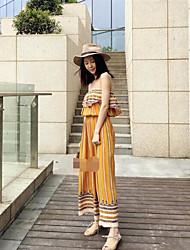 Feminino Moda de Rua Férias Macacão,Solto Verão