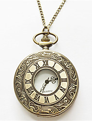 Masculino Relógio de Bolso Automático - da corda automáticamente Lega Banda Prata Dourada