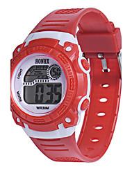 Жен. Спортивные часы электронные часы Китайский Цифровой силиконовый Группа Синий Красный Желтый