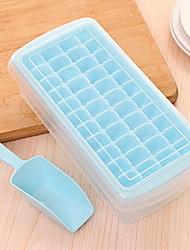 44 Grid Plastic DIY Originality Ice Mould Ice Box With Cover