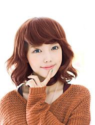 2017 Japan and South Korea fashion section short hair brown mixed blue natural song high temperature wire wig