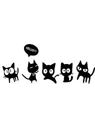 3D Wall Stickers Wall Decals Style Cute Cat Mirror Wall Stickers