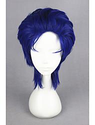 Mujer Pelucas sintéticas Sin Tapa Corto Liso Azul Peluca de Halloween Peluca de carnaval Peluca de cosplay Las pelucas del traje