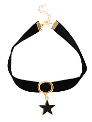 Women's Girls´ Choker Necklaces Pendant Necklaces Collar Necklace Jewelry Star Leather AlloyBasic Euramerican Fashion Vintage Punk