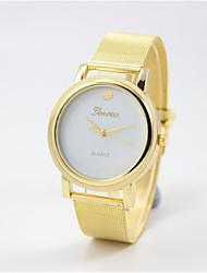 Men's Fashion Watch Quartz Silicone Band Gold