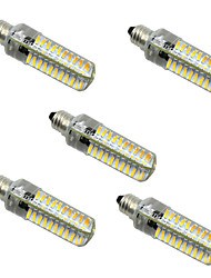 5W E14 E12 E17 E11 BA15D LED à Double Broches T 80 SMD 4014 400-500 lm Blanc Chaud Blanc Froid Gradable AC 100-240 V 5 pièces
