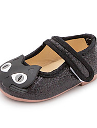 Girls' Loafers & Slip-Ons Spring Fall Ballerina Synthetic Dress Casual Flat Heel Sliver Black