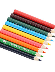 Nine colors of children's drawing pencils   Contain a pencil sharpener   safe and lead-free