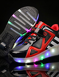 Boys' Athletic Shoes Summer Fall Light Up Shoes Luminous Shoe Other Animal Skin Tulle Outdoor Athletic Casual Low Heel LEDWhite/Silver