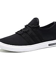 Herren-Sneakers Frühjahr Herbst Komfort Tüll lässig schwarz weiß
