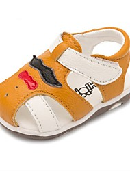 Kids' Sandals First Walkers Cowhide Casual Flat Heel Yellow White