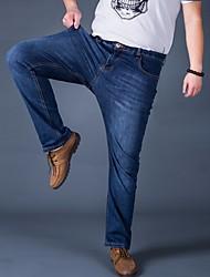 Men's High Rise Micro-elastic Jeans Pants,Boho Loose Solid