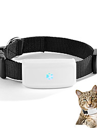 Dmdg wireless neckband gsm / gprs / gps tracker correia para pet branco