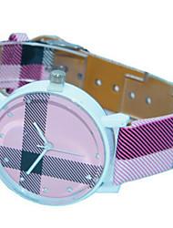 Mulheres Relógio de Moda Quartzo Couro Banda Casual Roxa