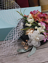 Fabric Headpiece-Wedding Special Occasion Outdoor Flowers Hair Pin 1 Piece