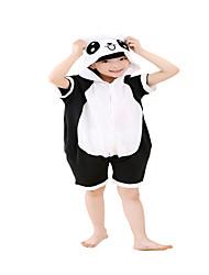 Kigurumi Pijamas Para crianças Panda Collant/Pijama Macacão Festival/Celebração Pijamas Animais Dia das Bruxas Preto Color Block Fantasias de Cosplay