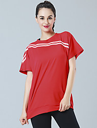 Women's Short Sleeve Running T-shirt Sweatshirt Tops Breathable High Breathability (>15,001g) Lightweight Materials ComfortableSpring