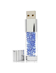 Jóias de cristal usb flash drive 64g