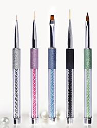1pc nail art broyer arénacé un crayon craquelures rester stylo de peinture stylo photothérapie 5 paragraphe facultatif