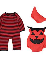 Costumes de Cosplay Potiron Fête / Célébration Déguisement d'Halloween Rouge Rayé Collant/Combinaison Fabrication CAP Coiffure Halloween