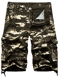 Homme Sexy simple Taille Normale Micro-élastique Chino Short Pantalon,Droite Camouflage