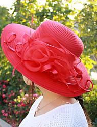 Mujer Primavera Verano Bonito Casual Poliéster Malla Sombrero Playero Sombrero para el sol