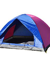 2 Personen Zelt Doppel Falt-Zelt Einzimmer Camping Zelt 1000-1500 mm Oxford GlasfaserFeuchtigkeitsundurchlässig Wasserdicht