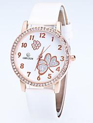 Women's Fashion Watch Wrist watch Quartz Rhinestone Flower Alloy Band Casual