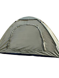 1 person Tent Single Fold Tent One Room Camping Tent 2000-3000 mm Fiberglass Oxford Waterproof Portable-Hiking Camping-Camouflage
