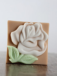 Beautiful Rose Flower Shape Soap Mold DIY Silicone Soap Mold Handmade Soap Salt Carved DIY Silicone Food Grade Silicone Mold