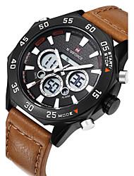 NAVIFORCE Men's Sport Watch Fashion Watch Wrist watch Casual Watch Quartz Calendar Genuine Leather Band Luxury Cool Unique Watches