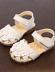 Kids' Sandals Summer First Walkers Leatherette Casual Flat Heel White