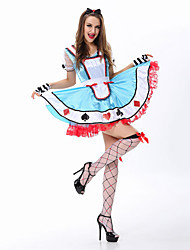 Amazing Sexy Alice in Wonderland Maid Costume Adults Fantasia Cosplay Poker Princess  Kigurumi Halloween Costumes for Women Fancy Carnival Dress