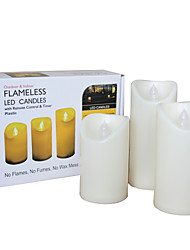 3 PCS Outdoor Flameless Candles with Timer LED Pillar Candles with Timer Weatherproof