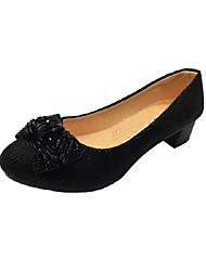 Mujer Zapatos de taco bajo y Slip-Ons Confort Innovador Mary Jane Suelas con luz Zapatos bordados Zapatos formales Lino TejidoPrimavera