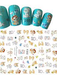 1pcs Fashion Nail Art 3D Sticker Lovely Cartoon Cat Design Lovely Decoration For Nail Beauty F202