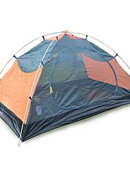 2 человека Световой тент Двойная Семейные палатки Однокомнатная Палатка 2000-3000 мм Оксфорд Полиэфирная тафтаВлагонепроницаемый Хорошая