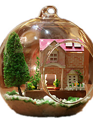 Dollhouse Novelty & Gag Toys Sphere Glass Wood