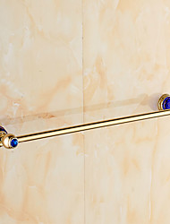European Style Solid Brass Blue Crystal Gold Bathroom Shelf Bathroom Towel Bar Bathroom Accessories