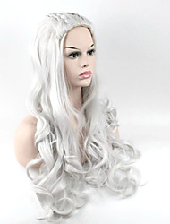 Popular Grey Color Synthetic Cosplay Wigs For Women Party Wigs