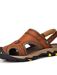Sandálias de couro para homens