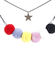 Mulheres Colares com Pendentes Jóias Formato Circular Circular Original Personalizado Multi-maneiras Wear Euramerican Estilo simples