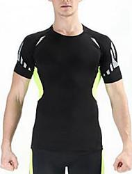 Homme Tee-shirt Respirable Résistant à la poussière Eté Bleu Vert de Trèfle Blanc Noir Rouge