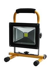 Hkv® 1pcs 20w 1850-1950lm 6000-6500k lumière blanche froide portable chargeable floodlight feux d'urgence led projecteur (ac 85-265v)