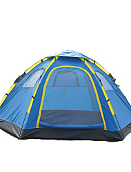 5-8 человек Световой тент Двойная Семейные палатки Однокомнатная Палатка 1000-1500 мм Стекловолокно ОксфордВодонепроницаемость