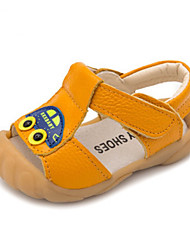 Boys' Baby Sandals First Walkers Cowhide Summer Casual First Walkers Flat Heel White Yellow Blue Flat